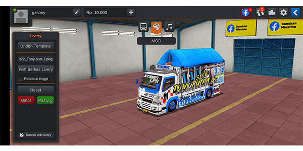 mod bussid truck canter 5