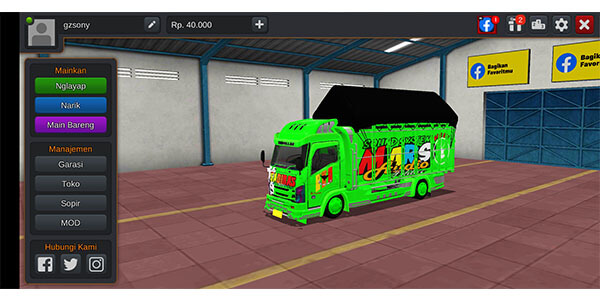 mod bussid truk canter 4