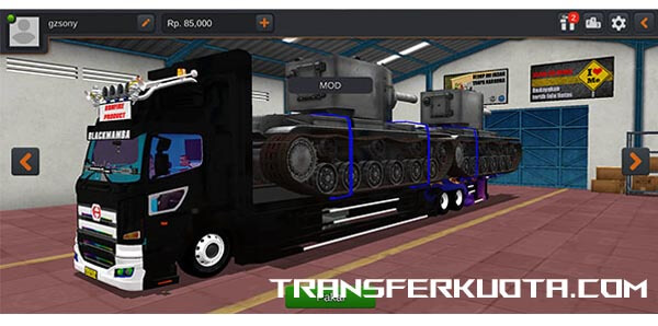 download mod bussid truck angkut tank