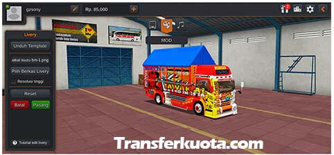 download mod bussid truck canter