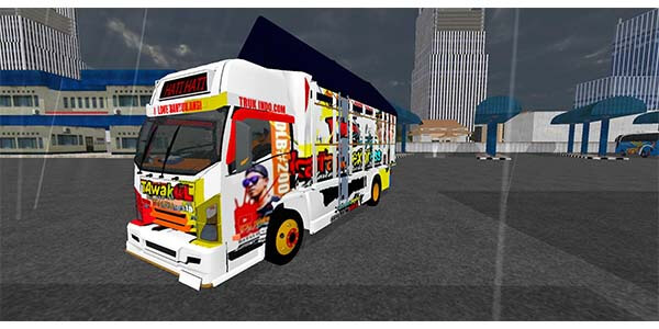 Download MOD Truck CANTER Tawakal Bussid